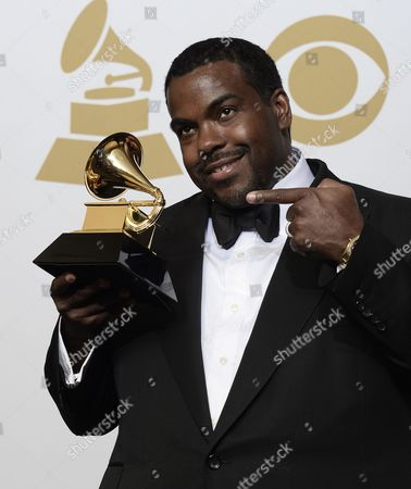 Rodney Jerkins Holds the Award For 'Record of the Year' at the 57th Annual Grammy Awards Held at the Staples Center in Los Angeles California Usa 08 February 2015 United States Los Angeles