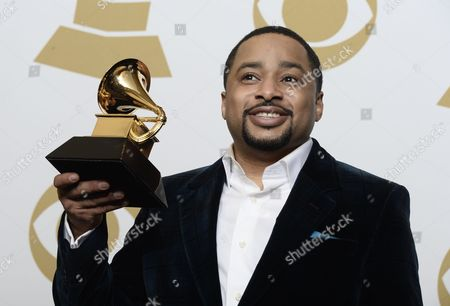 Smokie Norful Holds the Award For 'Best Gospel Performance/song' at the 57th Annual Grammy Awards Held at the Staples Center in Los Angeles California Usa 08 February 2015 United States Los Angeles