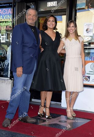 Us Actress Mariska Hargitay (c) and Friends Us Television Producer Dick Wolf (l) and Us Actress Hillary Swank (r) Pose with Hargitay's Star on the Hollywood Walk of Fame During Ceremony in Hollywood California Usa 08 November 2013 Hargitay was Awarded the 2 511th Star on the Hollywood Walk of Fame in the Category of Television Her Star is Located Next to the Star of Her Mother Us Actress Jayne Mansfield United States Hollywood
