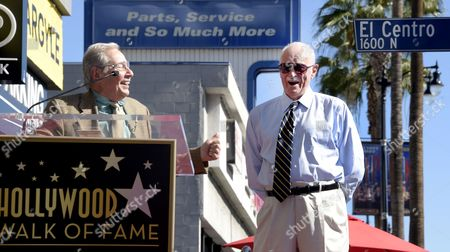 Stock Photo of Us Actor Dabney Coleman (r) Chuckles As Us Writer/director Mark Rydell (l) Shares a Story During Coleman's Star Ceremony on the Hollywood Walk of Fame in Hollywood California Usa 06 November 2014 Coleman was Awarded the 2 533rd Star on the Hollywood Walk of Fame in the Category of Television United States Hollywood