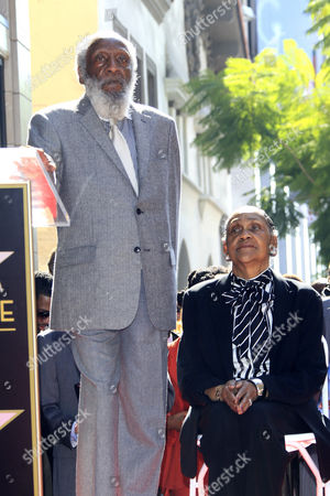 Us Entertainer/activist Dick Gregory (l) Poses with His Wife on Their 56th Wedding Anniversary As He Receives a Star on the Hollywood Walk of Fame During Ceremony in Hollywood California Usa 02 February 2015 Gregory was Awarded the 2 542nd Star on the Hollywood Walk of Fame in the Category of Live Theatre/performance United States Hollywood