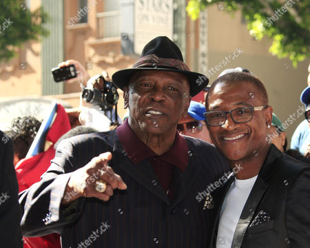 Us Actor Lou Gossett Jr and Us Actor Tommy Davidson Pose As Us Entertainer/activist Dick Gregory Receives a Star on the Hollywood Walk of Fame During Ceremony in Hollywood California Usa 02 February 2015 Gregory was Awarded the 2 542nd Star on the Hollywood Walk of Fame in the Category of Live Theatre/performance United States Hollywood