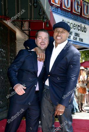 Us Actor Chris O'donnell (l) and Us Actor/rapper Ll Cool J (r) Joke Around During O'donnell's Star Ceremony on the Hollywood Walk of Fame in Hollywood California Usa 05 March 2015 O'donnell was Awarded the 2 544th Star on the Hollywood Walk of Fame in the Category of Television United States Hollywood