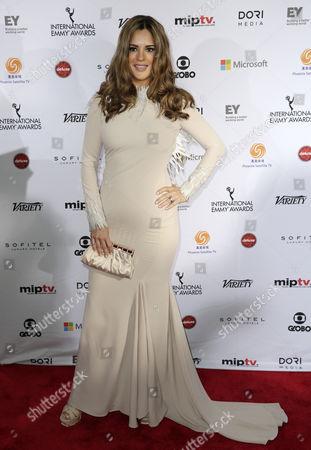Actress Sabrina Seara of Venezula Arrives For the 42nd International Emmy Awards Gala in New York New York Usa 24 November 2014 United States New York