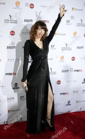 Stock Image of Actress Romina Gaetani of Argentina Arrives For the 42nd International Emmy Awards Gala in New York New York Usa 24 November 2014 United States New York