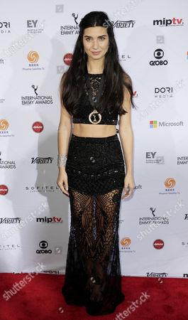 Actress Tuba Buyukustun of Turkey Arrives For the 42nd International Emmy Awards Gala in New York New York Usa 24 November 2014 United States New York