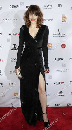 Stock Picture of Actress Romina Gaetani of Argentina Arrives For the 42nd International Emmy Awards Gala in New York New York Usa 24 November 2014 United States New York
