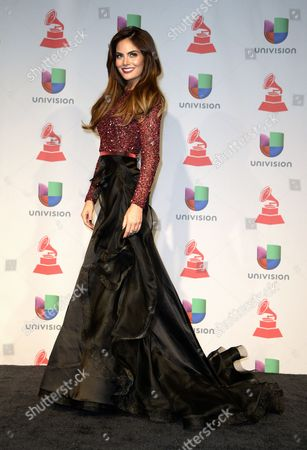 Mexican Actress and Former Miss Universe 2010 Ximena Navarrete Poses in the Press Room During the 14th Annual Latin Grammy Awards Ceremony at the Mandalay Bay Resort and Casino in Las Vegas Nevada Usa 21 November 2013 United States Las Vegas