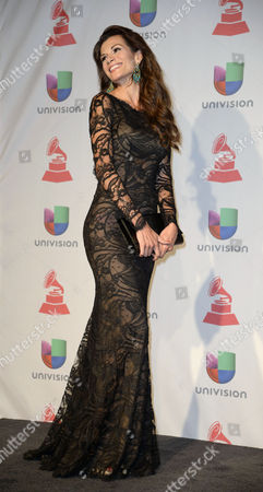 Actress Cristina Bernal Poses in the Press Room During the 14th Annual Latin Grammy Awards Ceremony at the Mandalay Bay Resort and Casino in Las Vegas Nevada Usa 21 November 2013 United States Las Vegas