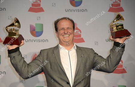 Colombian Composer Julio Reyes Copello Holds the Award For Record of the Year and Best Engineered Album in the Press Room During the 14th Annual Latin Grammy Awards Ceremony at the Mandalay Bay Resort and Casino in Las Vegas Nevada Usa 21 November 2013 United States Las Vegas