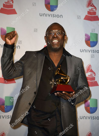Stock Photo of Brazilian Singer Kleber Lucas Holds His Award For Best Christian Album(portuguese Language) in the Press Room During the 14th Annual Latin Grammy Awards Ceremony at the Mandalay Bay Resort and Casino in Las Vegas Nevada Usa 21 November 2013 United States Las Vegas