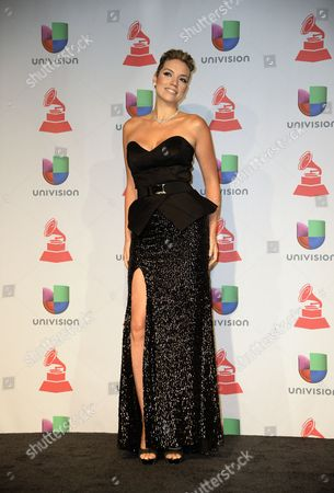 Stock Image of Laura Mayolo From the Argentinian Band Mojito Lite Poses in the Press Room During the 14th Annual Latin Grammy Awards Ceremony at the Mandalay Bay Resort and Casino in Las Vegas Nevada Usa 21 November 2013 United States Las Vegas