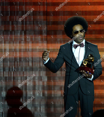 Cuban-canadian Singer Songwriter Alex Cuba Holds His Award For Best Short Form Music Video Onstage During the 14th Annual Latin Grammy Awards Ceremony at the Mandalay Bay Resort and Casino in Las Vegas Nevada Usa 21 November 2013 United States Las Vegas
