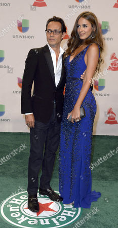 Us Producer Marc Anthony (l) and His Wife Venezuelan Model Shannon De Lima (r) Arrive at the 15th Annual Latin Grammy Awards at the Mgm Grand in Las Vegas Nevada Usa 20 November 2014 Latin Grammy Awards Recognize Artistic And/or Technical Achievement not Sales Figures Or Chart Positions and the Winners Are Determined by the Votes of Their Peers-the Qualified Voting Members of the Academy United States Las Vegas