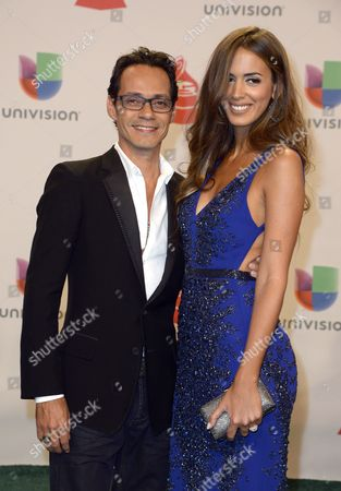 Us Producer Marc Anthony (l) and His Wife Model Shannon De Lima Arrive For the 15th Annual Latin Grammy Awards at the Mgm Grand in Las Vegas Nevada Usa 20 November 2014 Latin Grammy Awards Recognize Artistic And/or Technical Achievement not Sales Figures Or Chart Positions and the Winners Are Determined by the Votes of Their Peers-the Qualified Voting Members of the Academy United States Las Vegas