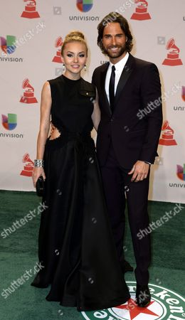 French-born Mexican Actress and Singer Angelique Boyer (l) and Argentine Actor and Model Sebatian Rulli (r) Arrive For the 15th Annual Latin Grammy Awards at the Mgm Grand in Las Vegas Nevada Usa 20 November 2014 Latin Grammy Awards Recognize Artistic And/or Technical Achievement not Sales Figures Or Chart Positions and the Winners Are Determined by the Votes of Their Peers-the Qualified Voting Members of the Academy United States Las Vegas