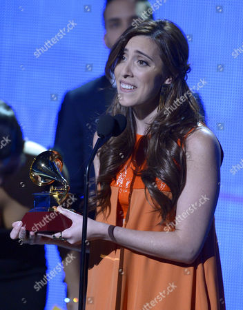 Recording Artist Mariana Vega Accepts the Best New Artist Award Onstage During the 15th Annual Latin Grammy Awards at the Mgm Grand in Las Vegas Nevada Usa 20 November 2014 Latin Grammy Awards Recognize Artistic And/or Technical Achievement not Sales Figures Or Chart Positions and the Winners Are Determined by the Votes of Their Peers-the Qualified Voting Members of the Academy United States Las Vegas