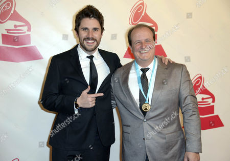 Colombian Musician Juan Pablo Vega (l) and Producer Julio Reyes Copello Arrive For the 2014 Latin Recording Academy Person of the Year Tribute to Joan Manuel Serrat in Las Vegas Nevada Usa 19 November 2014 Spanish Author-singer Joan Manuel Serrat is Due to Receive a Prize For His Half-century Artistic Career a Day Ahead of the Latin Grammy Award Gala United States Las Vegas