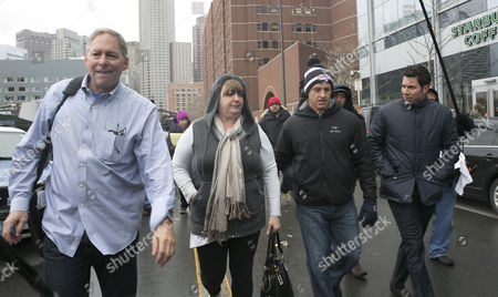 Dana Cohen (l) Liz Norden (2l) Who's Sons Were Injured and Mike Ward (2r) Leave the John J Moakley Federal Courthouse After the Jury Verdict of Guilty on All Charges Against Dzhokhar Tsarnaev in the Boston Marathon Bombing Trial in Boston Massachusetts Usa 08 April 2015 Dzhokhar Tsarnaev Along with His Brother Tamerlan Tsarnaev Set Off Home Made Bombs at the Boston Marathon on 15 April 2013 Killing Three People and Injuring Hundreds United States Boston