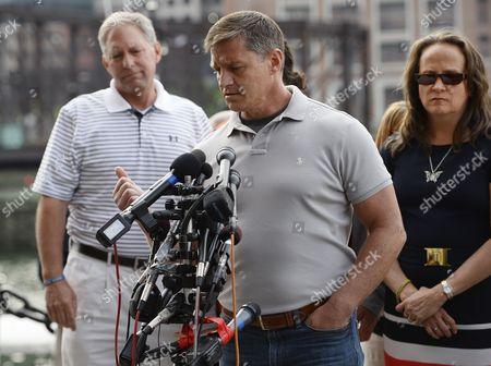 Boston Firefighter Mike Ward Speaks to the Media Outside the John Joseph Moakley Courthouse After Dzhokhar Tsarnaev was Sentenced to Death in the Boston Marathon Bombing Trial in Boston Massachusetts Usa 15 May 2015 United States Boston