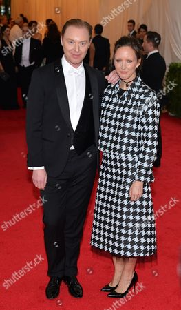 Stock Photo of Photographer Rachel Chandler (r) and Coach Ceo Stuart Vevers (l) Arrive For the 2014 Anna Wintour Costume Center Gala Held at the New York Metropolitan Museum of Art in New York New York Usa 05 May 2014 the Costume Institute's New Anna Wintour Costume Center Opens on 08 May with the Exhibition 'Charles James: Beyond Fashion ' United States New York