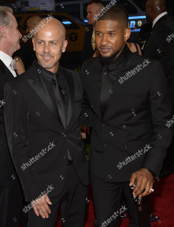 Italo Zucchelli (l) and Usher (r) Arrive For the 2015 Anna Wintour Costume Center Gala Held at the New York Metropolitan Museum of Art in New York New York Usa 04 May 2015 the Costume Institute Will Present the Exhibition 'China: Through the Looking Glass' at the Metropolitan Museum of Art From 07 May to 16 August 2015 United States New York