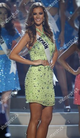 Stock Picture of Miss Spain Desire Cordero Completes on Stage During the 2014 Miss Universe Final at the Fiu Arena in Miami Usa 25 January 2015 Epa/rhona Wise United States Miami