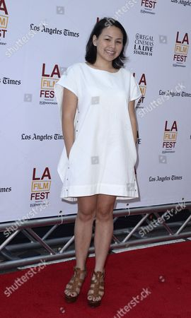 Stock Image of Us Actress and Cast Member Naomi Ko Arrives For the Los Angeles Film Festival Screening of 'Dear White People' in Los Angeles California Usa 18 June 2014 United States Los Angeles