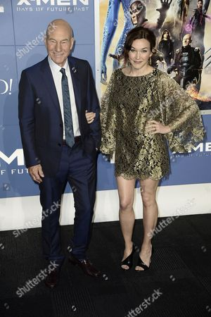 British Actor Sir Patrick Stewart (l) and Sophie Alexandra Stewart Arrive For the 'X-men: Days of Future Past' World Premiere at Jacob Javits Center in New York New York Usa 10 May 2014 United States New York