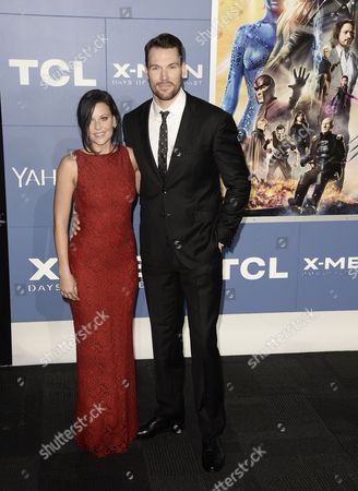 Canadian Actor Daniel Cudmore and Wife Stephanie Arrive For the 'X-men: Days of Future Past' World Premiere at Jacob Javits Center in New York New York Usa 10 May 2014 United States New York