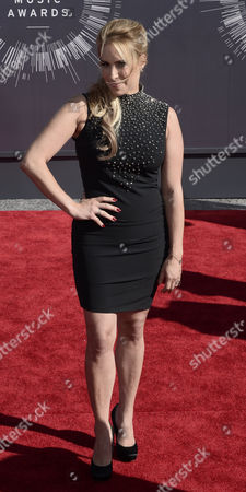 Stock Picture of Us Psychotherapist and Relationship Counselor For the Vh1 Reality Show 'Couples Therapy ' Dr Jenn Berman Arrives on the Red Carpet For the 31st Mtv Video Music Awards at the Forum in Inglewood California Usa 24 August 2014 United States Inglewood