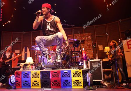 Drew Chadwick of the Us Pop Rock Band Emblem3 Performs at the Murat Egyptian Room in Indianapolis Indiana Usa 16 February 2014 United States Indianapolis