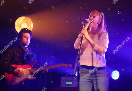 Dan Rothman (l) and Hannah Reid (r) of British Electronic Pop Trio London Grammar Perform at the Old National Centre in Indianapolis Indiana Usa 02 February 2015 United States Indianapolis