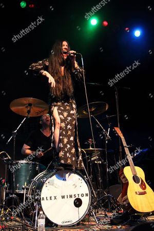 Stock Picture of Us Indie Pop Rock Singer Alex Winston Performs at the Murat Egyptian Room in Indianapolis Indiana Usa 21 March 2014 United States Indianapolis