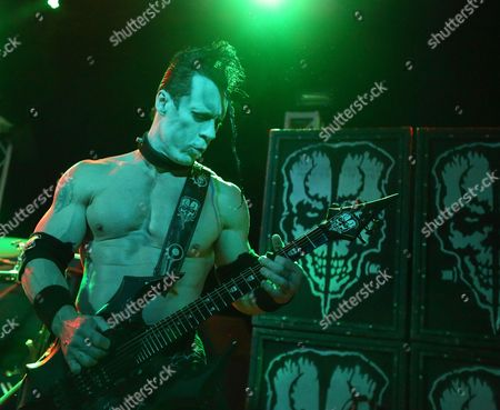 Former Misfits Member Doyle Wolfgang Von Frankenstein of Us Band Doyle Performs on Stage During Their Concert at Vogue Theater in Indianapolis Indiana 24 March 2015 United States Indianapolis