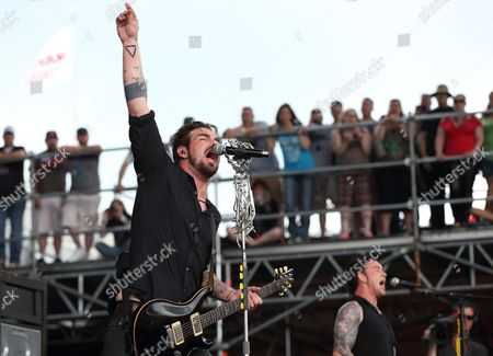 Adam Gontier of Us Rock Supergroup Saint Asonia Performs at the Rock on the Range Festival in Columbus Ohio Usa 16 May 2015 United States Columbus