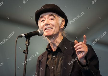 Stock Photo of Irish Dj Author Photographer and Musician Bp Fallon Introduces Irish Musician Imelda May not Pictured at the 2014 Austin City Limits Music Festival at Zilker Park in Austin Texas Usa on 12 October 2014 United States Austin