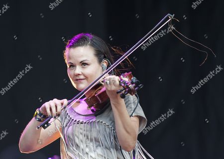 Tania Elizabeth of the Us Band the Avett Brothers Performs at the 2014 Austin City Limits Music Festival at Zilker Park in Austin Texas Usa 04 October 2014 United States Austin