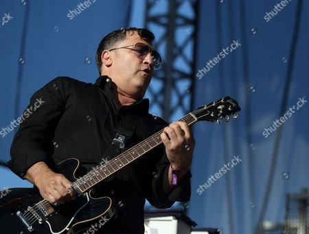 Stock Photo of Us Musician Greg Dulli of Us Rock Band the Afghan Whigs Performs at the Riot Fest Music Festival in Humboldt Park in Chicago Llinois Usa 13 September 2014 United States Chicago