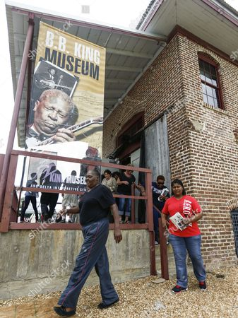 People Exit the B B King Museum After Viewing the Body of the King During Visitation For the Blues Legend in Indianola Mississippi Usa 29 May 2015 King Died 14 May While in Home Hospice Care in His Home in Las Vegas Nevada Usa and Will Be Buried in Indianola on 30 May United States Indianola