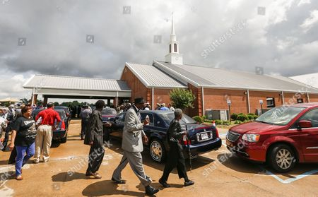 People Gather For Funeral Services For Blues Legend B B King at Bell Grove Missionary Baptist Church in Indianola Mississippi Usa 30 May 2015 King Died 14 May While in Home Hospice Care in His Home in Las Vegas Nevada Usa and Will Be Buried in at the B B King Museum United States Indianola