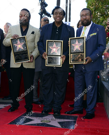 (l-r) Us Songwriters and Producers Eddie Holland Lamont Dozier and Brian Holland Are Honored with a Star on the Hollywood Walk of Fame in Hollywood California Usa 13 February 2015 This is the 2 543rd Star on the Hollywood Walk of Fame United States Hollywood