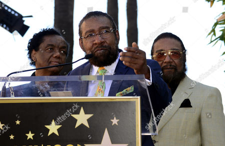 Us Songwriter and Producer Brian Holland (c) with Eddie Holland (r) and Lamont Dozier (l) Makes Remarks During a Ceremony Honoring Them with a Star on the Hollywood Walk of Fame in Hollywood California Usa 13 February 2015 This is the 2 543rd Star on the Hollywood Walk of Fame United States Hollywood