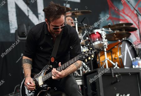 Adam Gontier of Saint Asonia Performs During Their First Live Performance at the Rock on the Range Festival in Columbus Ohio Usa 16 May 2015 United States Columbus