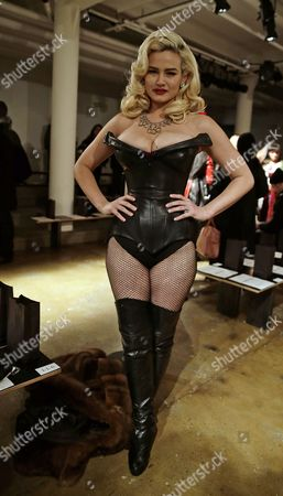 Model Gia Genevieve Attends the Fall 2015 Collection of the Blonds During Made Fashion Week in New York New York Usa 18 February 2015 the Fall 2015 Collections Are Presented From 12 to 19 February United States New York