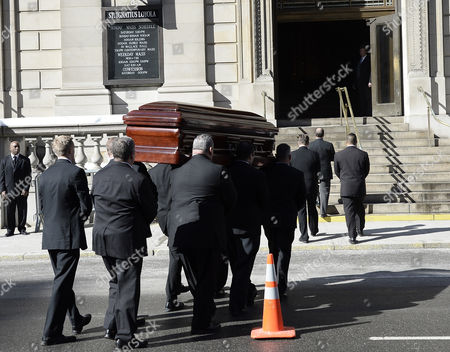 Pall-bearers Carry the Casket of Us Actor Phillip Seymour Hoffan Into the Funeral Mass at St Ignatius Church in New York New York Usa 07 February 2014 Hoffman 46 Died 02 February From a Suspected Drug Overdose United States New York