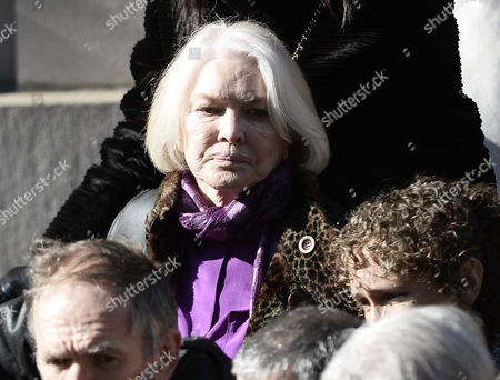 Us Actress Ellen Burstyn Leaves the Funeral For Us Actor Phillip Seymour Hoffman at St Ignatius Church in New York New York Usa 07 February 2014 Hoffman 46 Died 02 February From a Suspected Drug Overdose United States New York