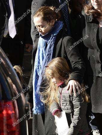 Long Time Girlfriend of Us Actor Phillip Seymour Hoffman Mimi O'donnel (l) with Their Daughter Willa (r) Leave the Funeral Mass For Hoffman at St Ignatius Church in New York New York Usa 07 February 2014 Hoffman 46 Died 02 February From a Suspected Drug Overdose United States New York