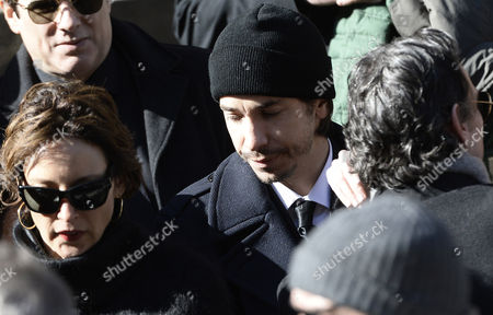 Us Actor Justin Long Leaves Funeral Mass of Us Actor Phillip Seymour Hoffman at St Ignatius Church in New York New York Usa 07 February 2014 Hoffman 46 Died 02 February From a Suspected Drug Overdose United States New York