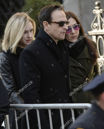 Us Actor Josh Charles (c) Arrives For the Funeral Mass For Us Actor Phillip Seymour Hoffan at St Ignatius Church in New York New York Usa 07 February 2014 Hoffman 46 Died 02 February From a Suspected Drug Overdose United States New York